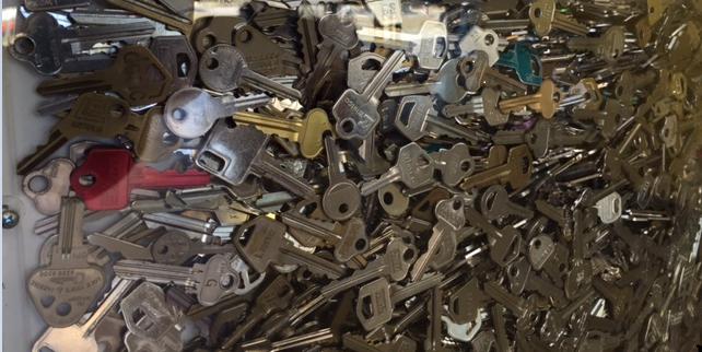 Wall of cut keys