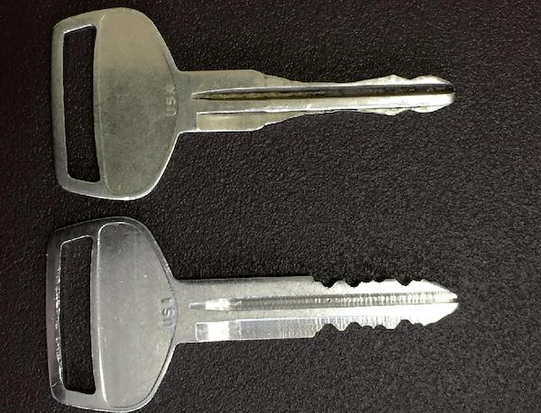 Worn key vs non-worn key