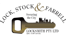 Lock Stock and Farrell Locksmith Perth Logo